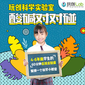 玩创Lab北京精英小学孩子都在玩的科学实验 「酸碱对对碰」实验材料包