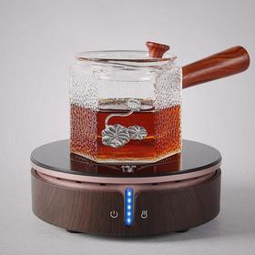 猫眼电陶炉煮茶器玻璃壶套装静音铁壶烧水炉泡茶炉迷你小型煮茶炉