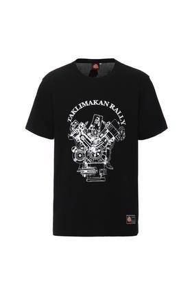 环塔拉力赛夏季新款轰鸣卡车印花女士圆领短袖T恤休闲弹力