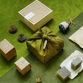 【欠香斋】千门结艾防蚊驱虫礼盒丨内含香囊、野艾皂、天然香、黄铜香插丨自然驱蚊丨用艾说谢谢
