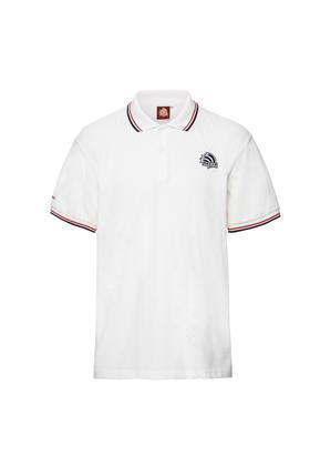 环塔纪念款POLO衫男商务短袖翻领 白色
