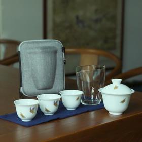 高档盖碗旅行茶具套装便携包一壶四杯二杯家用简约4人车载