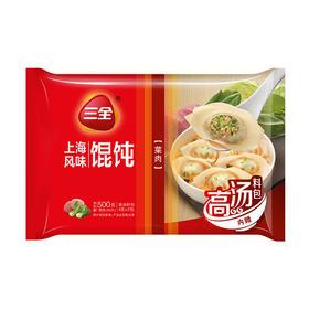 三全上海风味菜肉馄饨 500克-855231