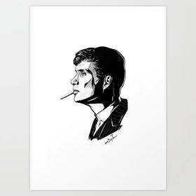 七哥画作 | 邪恶之星斯里安·墨菲 | Art Print