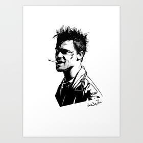 七哥画作 | 搏击俱乐部泰勒 | Art Print