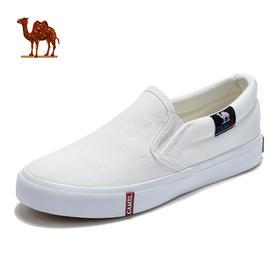 骆驼小白鞋女款休闲鞋耐磨吸汗透气轻便平底韩版百搭帆布鞋板鞋