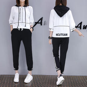 2018新款女装休闲显瘦时尚卫衣跑步服两件套潮LYX864
