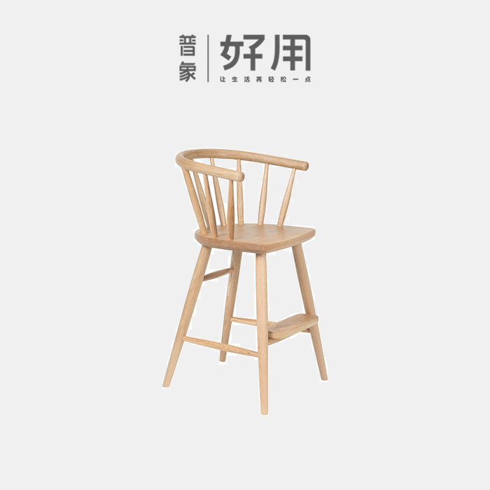【原创设计】弥乐磨乐不下来实木儿童餐椅儿童摄影道具网红爆款儿童椅高腿椅