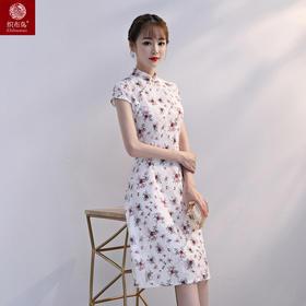 一袭霓裳高档蕾丝面料修身旗袍YG8508