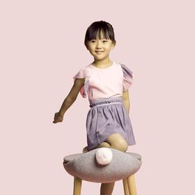 壹果Yiigoo 女童 天使之翼拼纱泡泡袖T恤