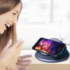 【手机支架+氛围灯+无线充】s18无线智能充电器  可折叠、过充保护不伤机