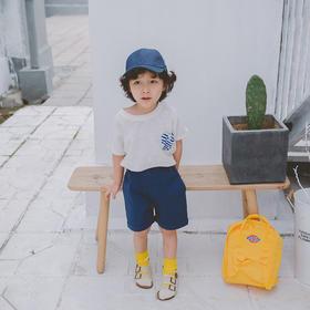 壹果Yiigoo 文艺工装深蓝水洗休闲短裤