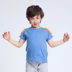 壹果Yiigoo 男童女童 梦幻恐龙立体恐龙角短袖T恤