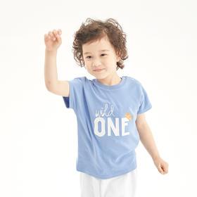 壹果Yiigoo 冠军宝贝 字母印花有机棉短袖T恤