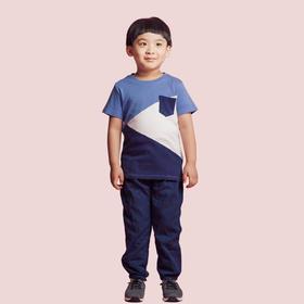 壹果Yiigoo 男童女童 海洋奇遇三色拼接短袖T恤
