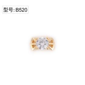 【美甲金属饰品】B520金色闪亮锆石爆款领结蝴蝶结