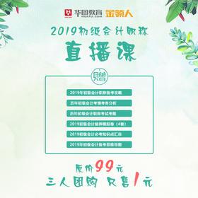 【1元拼】2019初级会计职称直播课