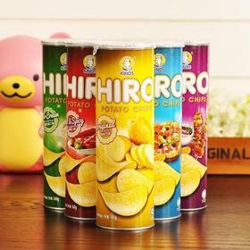 马来西亚进口HIRO一皇薯片筒装好吃的零食