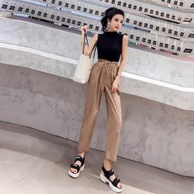 2018新款夏季时尚套装女神阔腿裤子两件套XFL044