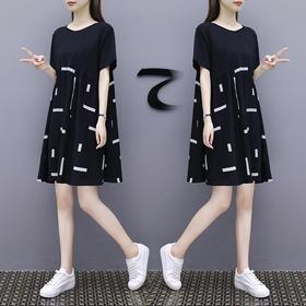 连衣裙女中长款新款宽松显瘦棉麻拼接娃娃裙子XFL042