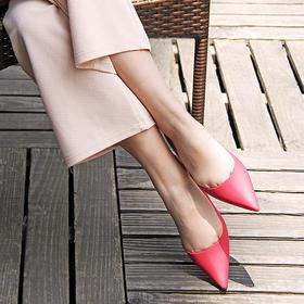 【雨天都能让女神优雅自在】法式防水果冻单鞋 平底尖头浅口雨鞋 四季防滑防水 怎么折都不会坏