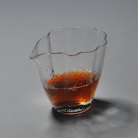 永利汇海棠花耐热玻璃公道杯小茶海分茶器公平杯功夫茶具茶道配件