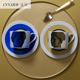 [InYard宜氧]罗马咖啡杯碟套/北欧创意马克杯茶杯子/陶瓷北欧套装