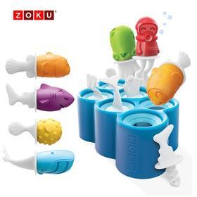 美国ZOKU 鱼型冰棒模具 蓝色 6根 ZK119