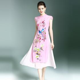(捡漏款)OG9356改良中国风汉元素修身连衣裙TZF