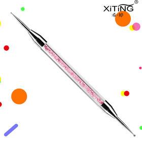 美甲钻专用点钻笔点花笔双头点钻笔 水钻笔杆勾画笔