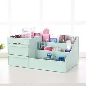化妆品收纳盒桌面抽屉式梳妆台护肤刷筒整理盒面膜口红置物收纳架