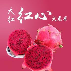 【新鲜预售】台湾大红红心火龙果5斤/盒【前五十名额外赠送一把水果刀】