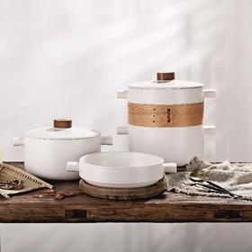 樱之歌叠叠锅日式蒸笼耐高温明火煲汤炖锅陶瓷锅砂锅5件套