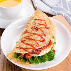 台湾手抓饼 早餐饼 免油饼 25片90g/片