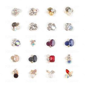 【美甲金属饰品】日韩流行美甲金属饰品手工堆钻 钻石珍珠组合钻大钻