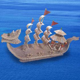 纸币龙船艺术品摆件(3500张)