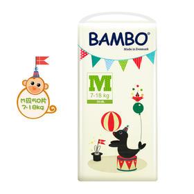 Bambo游乐园系列婴儿纸尿裤M号(7-18kg)