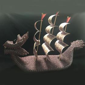纸币龙船艺术品摆件(1600张)