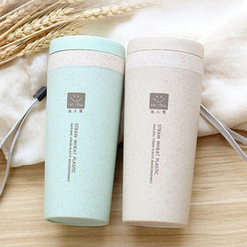 小麦杯秸秆双层麦香纤维杯子