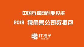2018 中国独角兽公司数据包