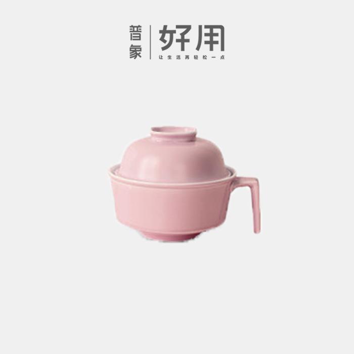 有只兔子水洗去油疏性水净瓷泡面碗 勺筷套装【F】