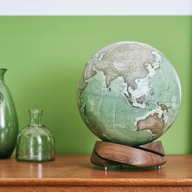 黑胡桃木螺旋圆底地球仪 手工地球仪   Homely Globe