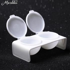 美甲工具光疗机指甲油胶双座杯子防水晶液雕花延长指甲双连杯