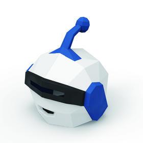 智伴机器人立体diy纸膜头套  地推聚会(送黏合工具)