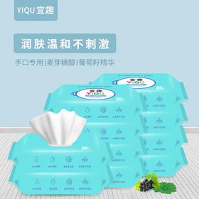 B / 宜趣婴儿手口柔湿巾随时装25抽/包*10包