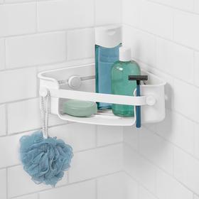 Umbra 吸盘浴室置物架免打孔卫生间收纳筐篮卫浴壁挂吸壁式三角形
