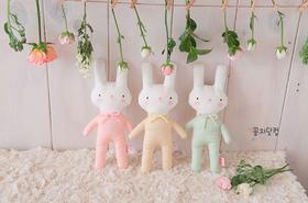 萌萌小兔 婴儿 布偶拼布DIY材料包