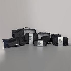 imblu 美国杜邦纸材料防水耐脏的旅行收纳包  黑色便携洗漱包数码包内衣包化妆包