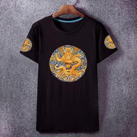 夏季新款皇帝龙袍短袖T恤