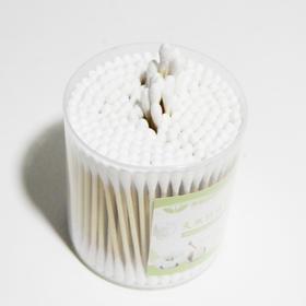 KM003-美丽芭芭天然竹棒双头棉签200支桶装 6桶装